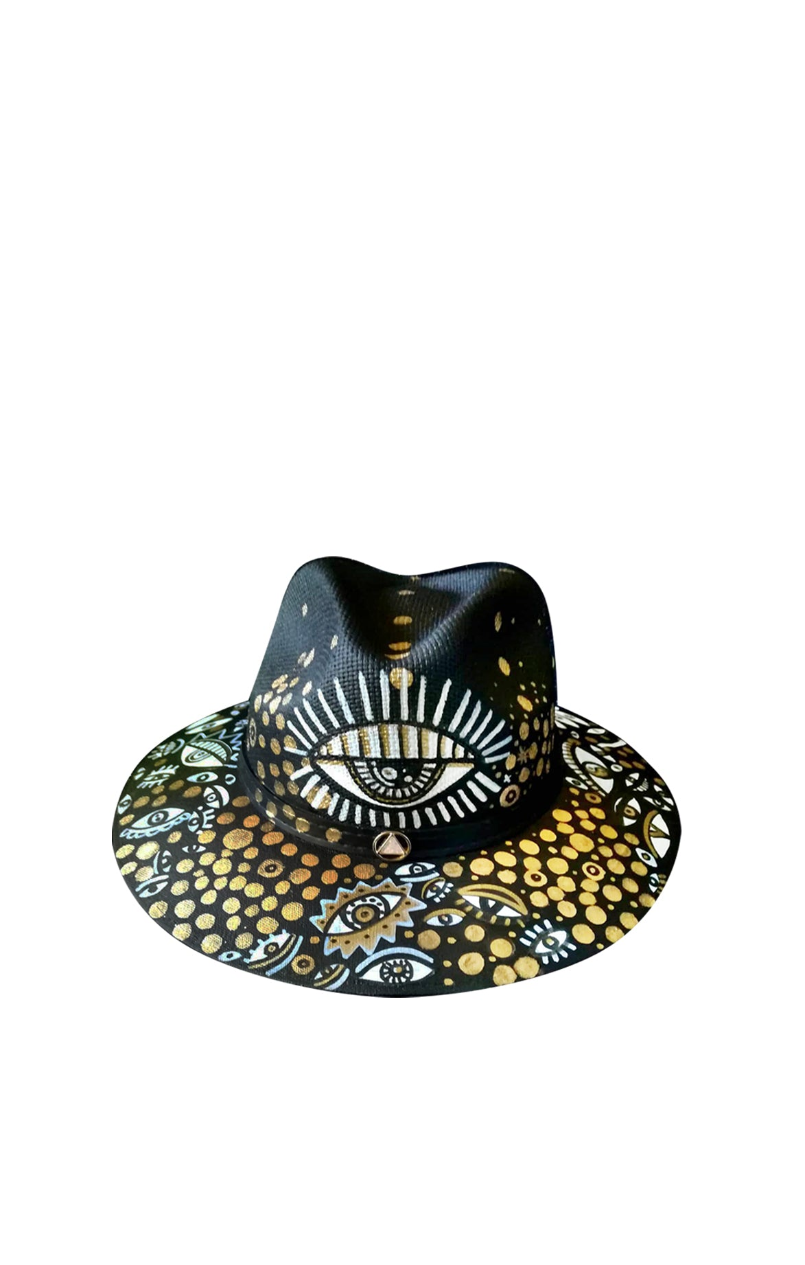 Golden Eye Fedora Hat