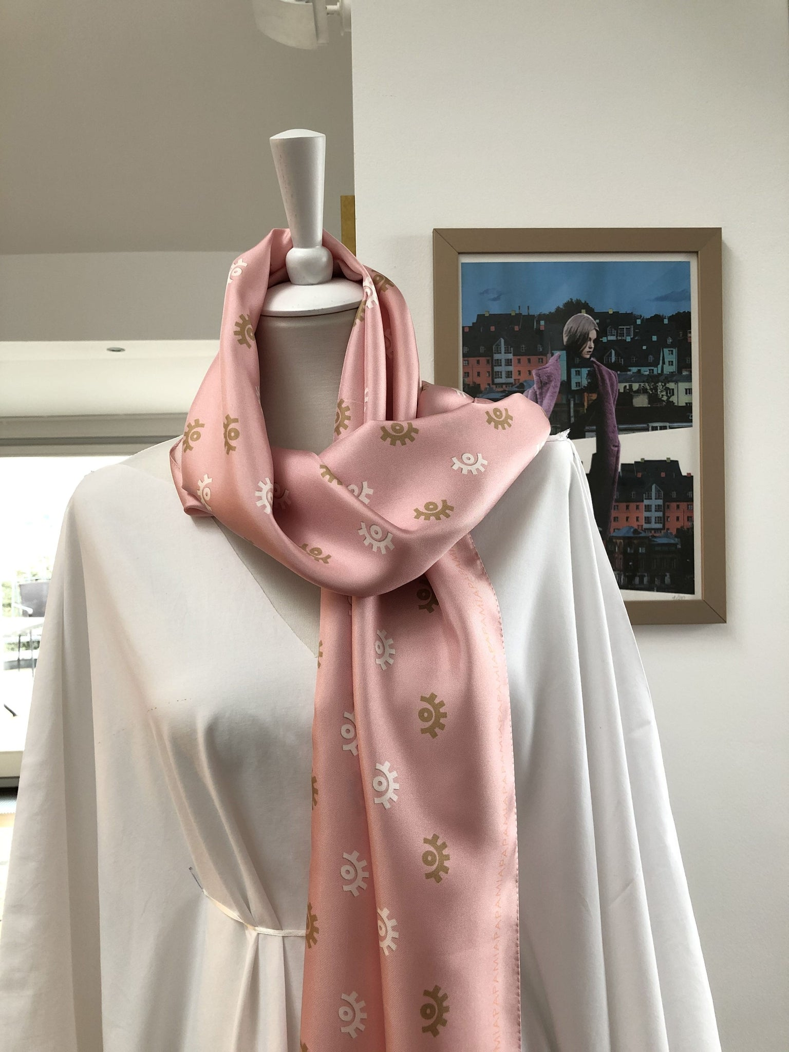 Paris Ribbon Silk Scarf