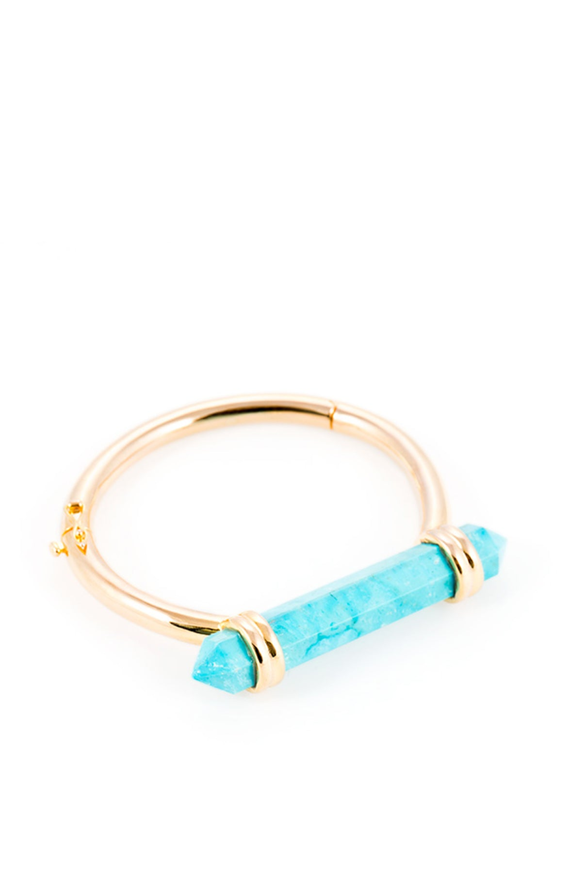 Water drop gold turquoise bracelet