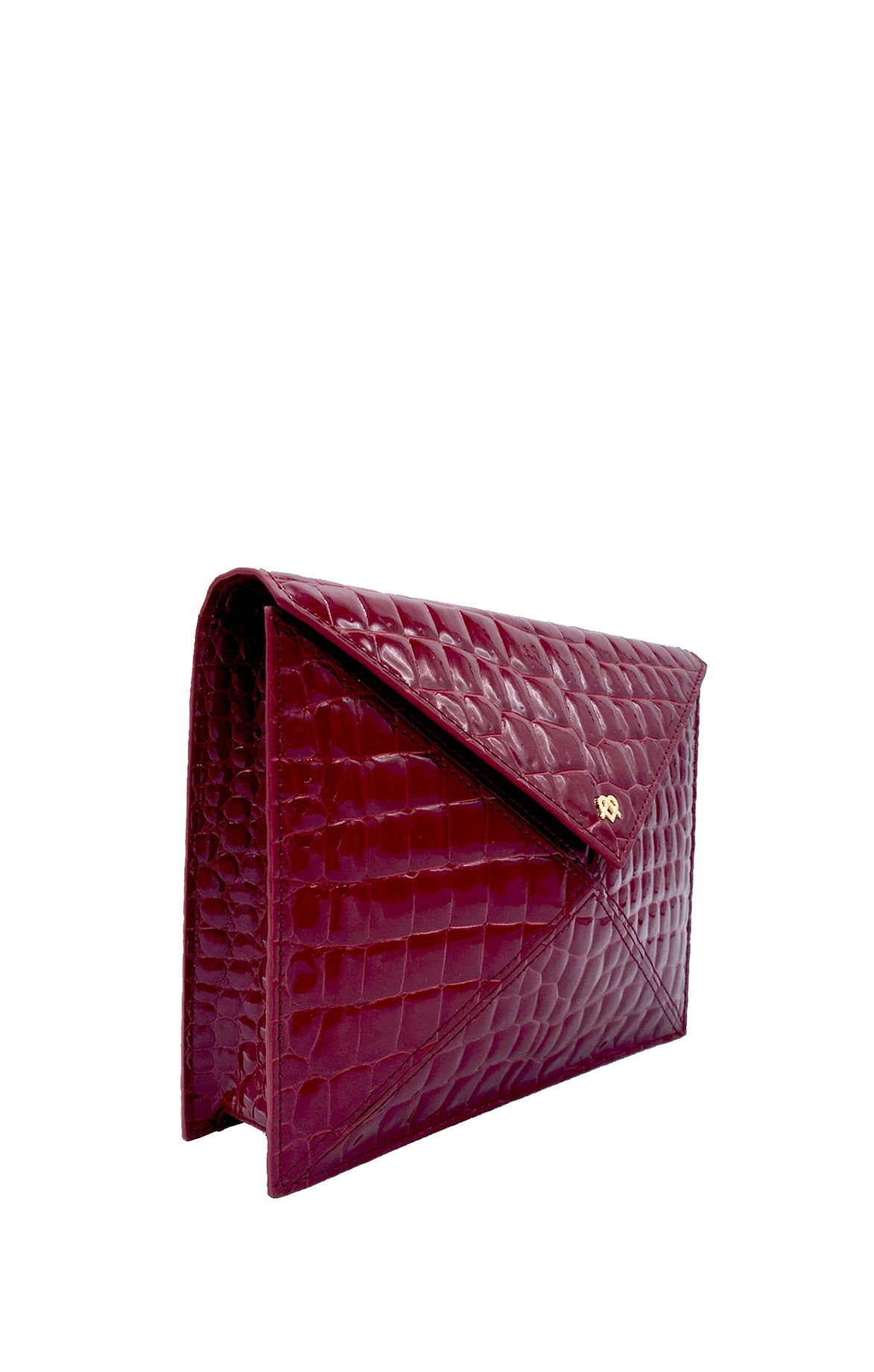 About Last Night Burgundy Clutch
