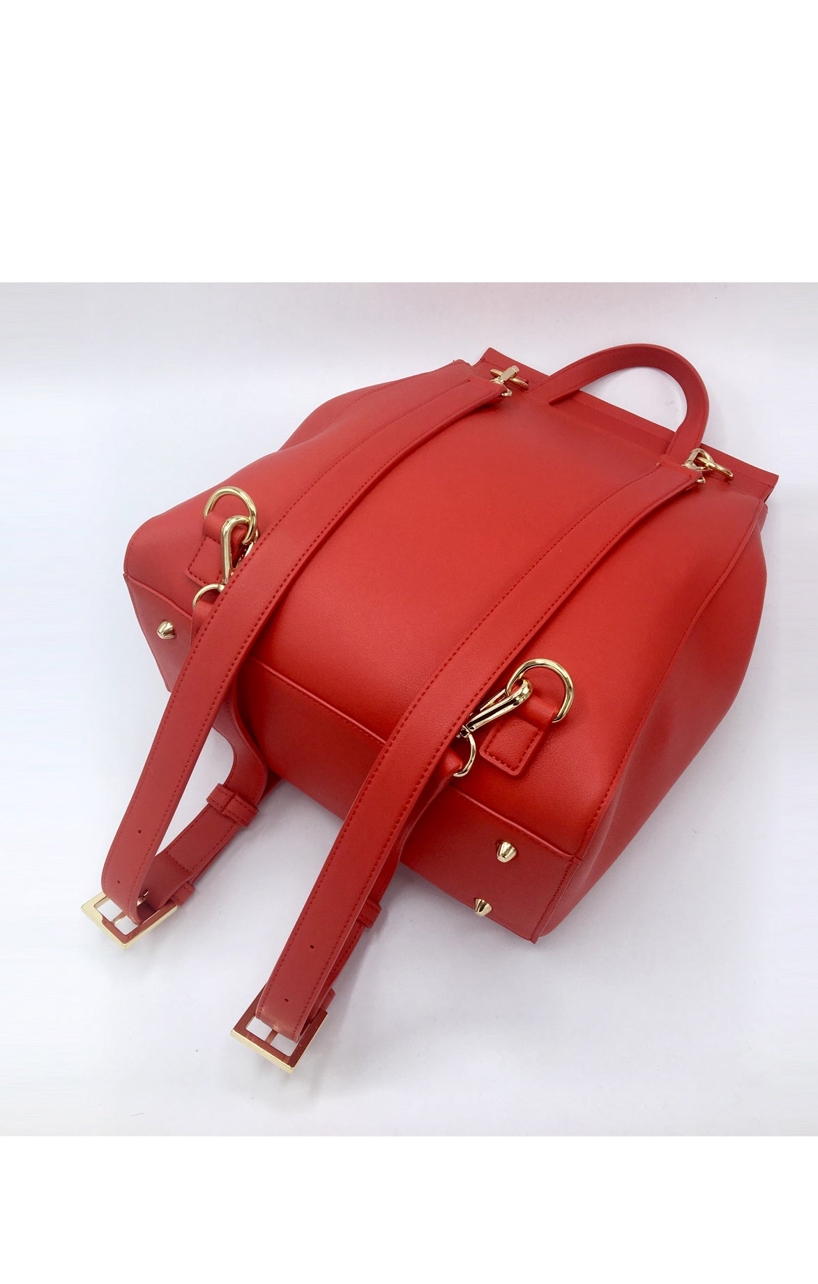 Livia Red Backpack + Shoulder Bag