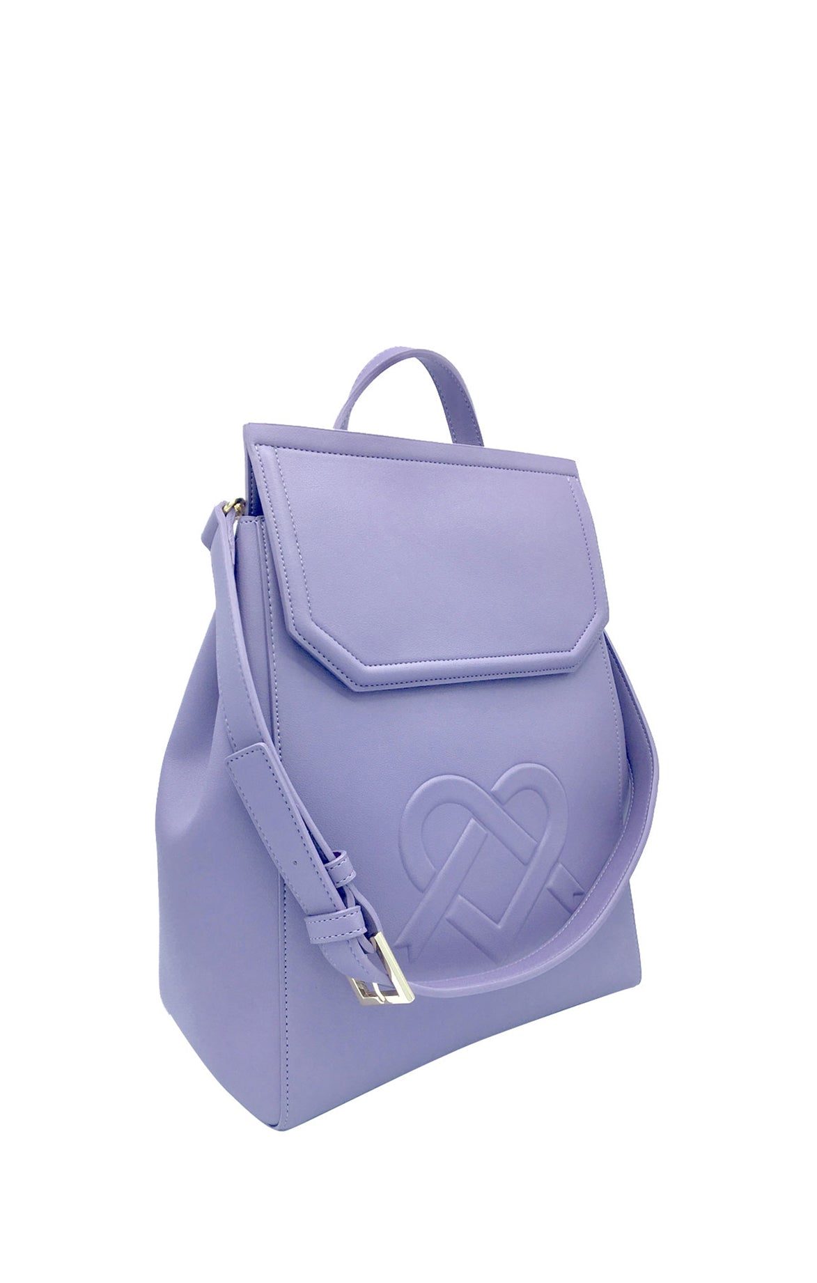 Livia Purple Backpack + Shoulder Bag