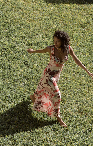 Cerise Guadalupe Maxi Dress