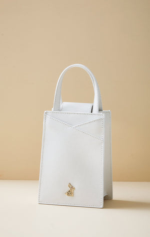 Zoë Rabbit White Mini Bag
