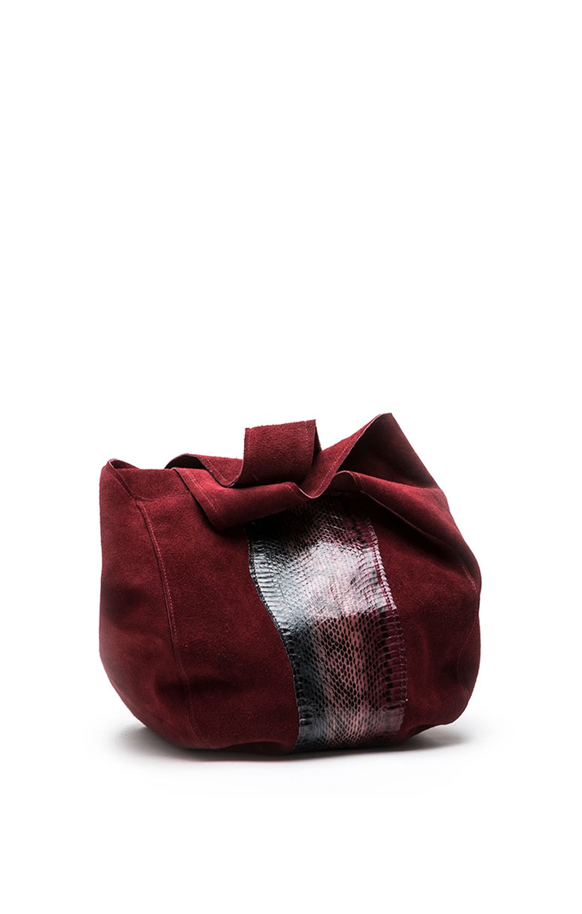 Red Suede Snake bag