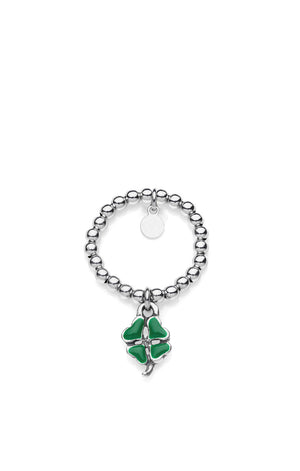 Mini Four - Leaf Clover Charm Ring