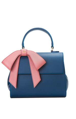 Cottontail Navy + Mauve Handbag