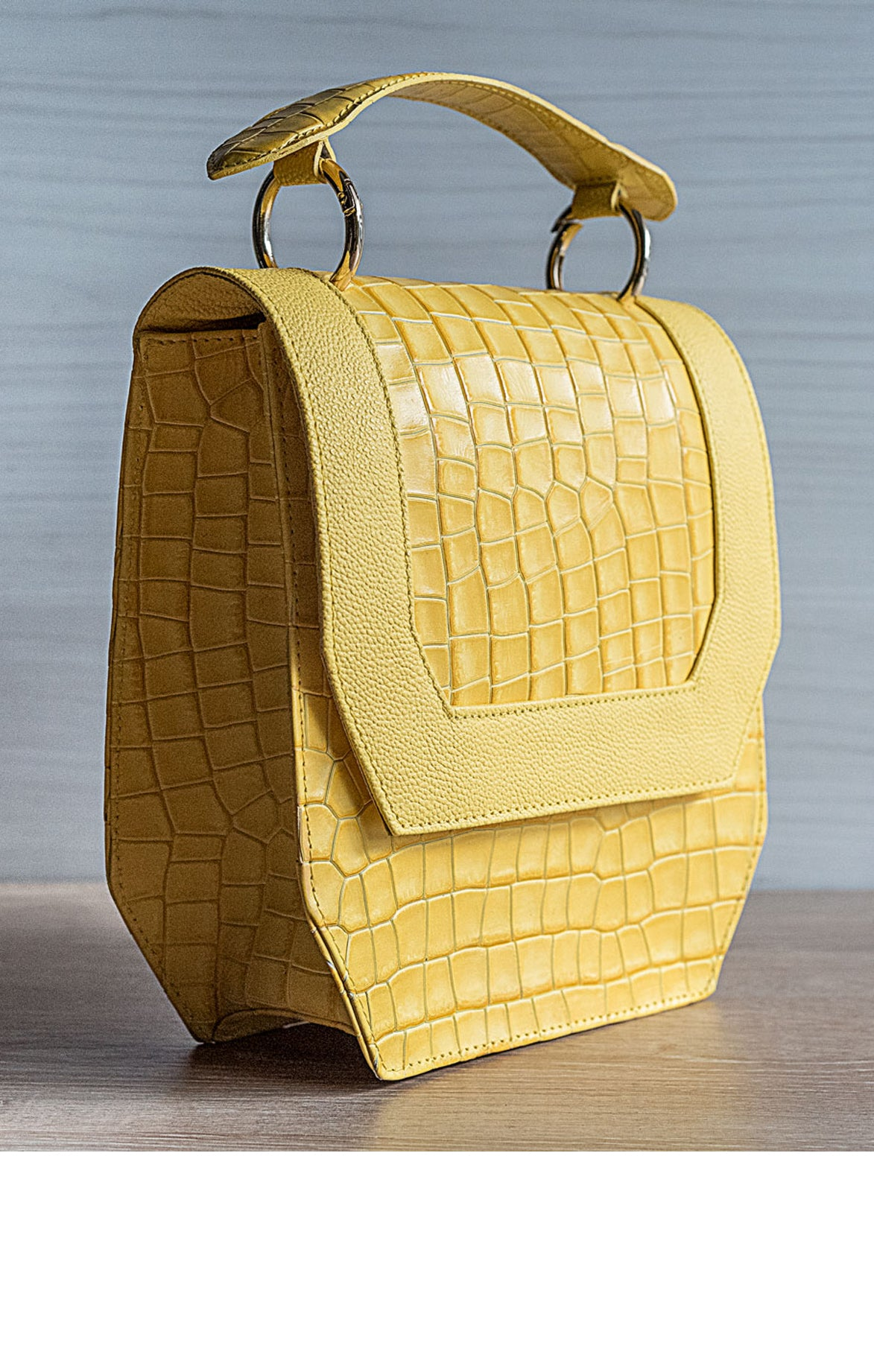 Modena Yellow Handbag
