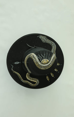 Golden Snake Fedora Hat