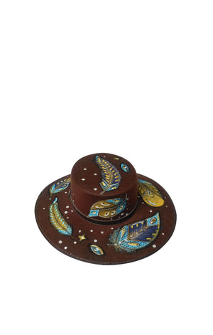 Tropical Feather Felt Hat