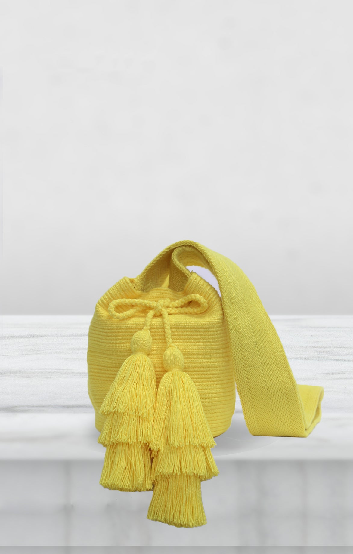Yellow Mini Wayuu Bag