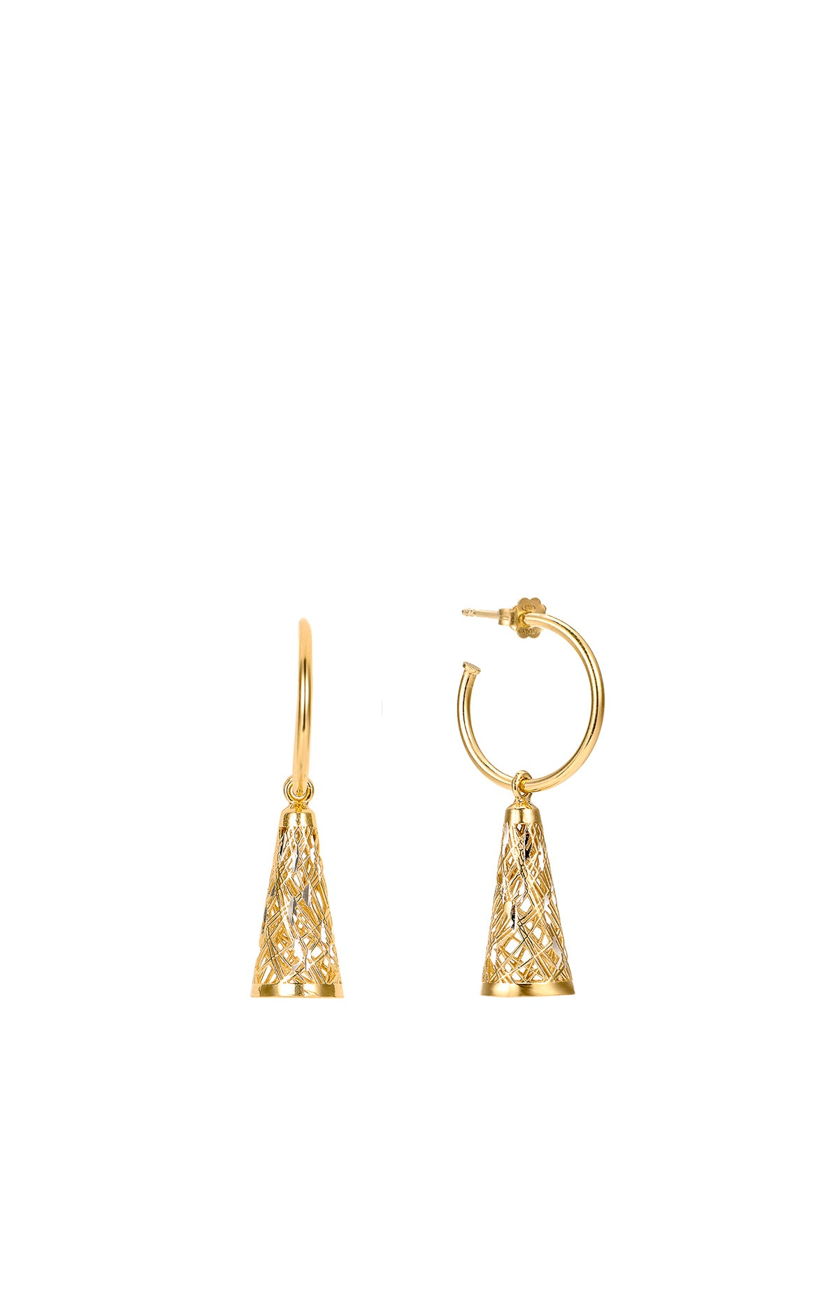 Structure of the Universe Gold Small Ring Earrings