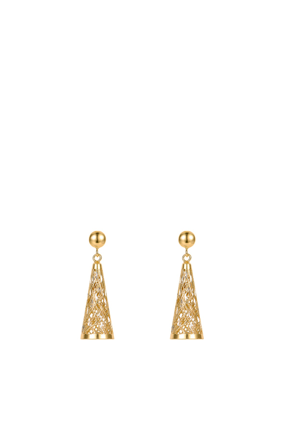 Structure of the Universe Gold Earrings