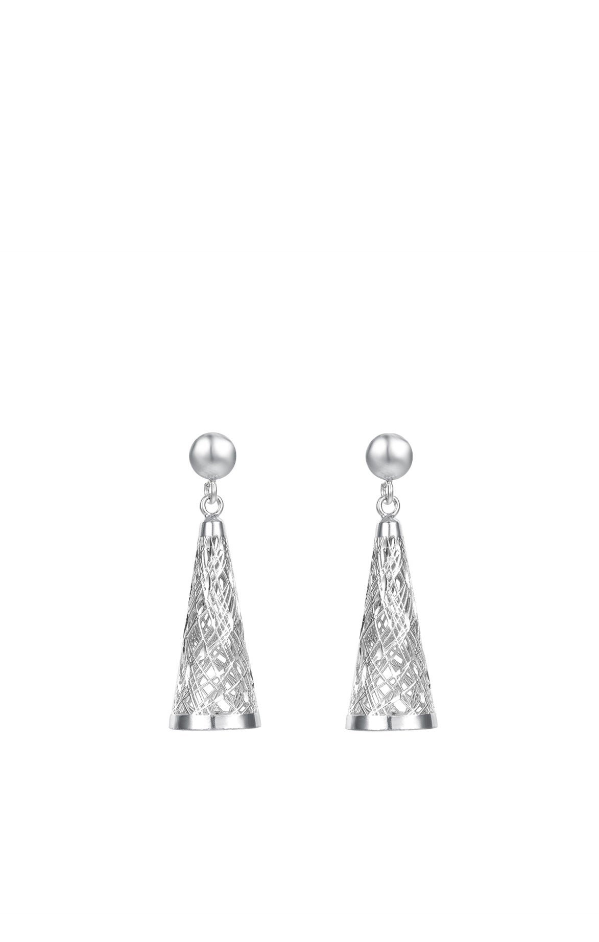 Structure of the Universe Big Silver Earrings