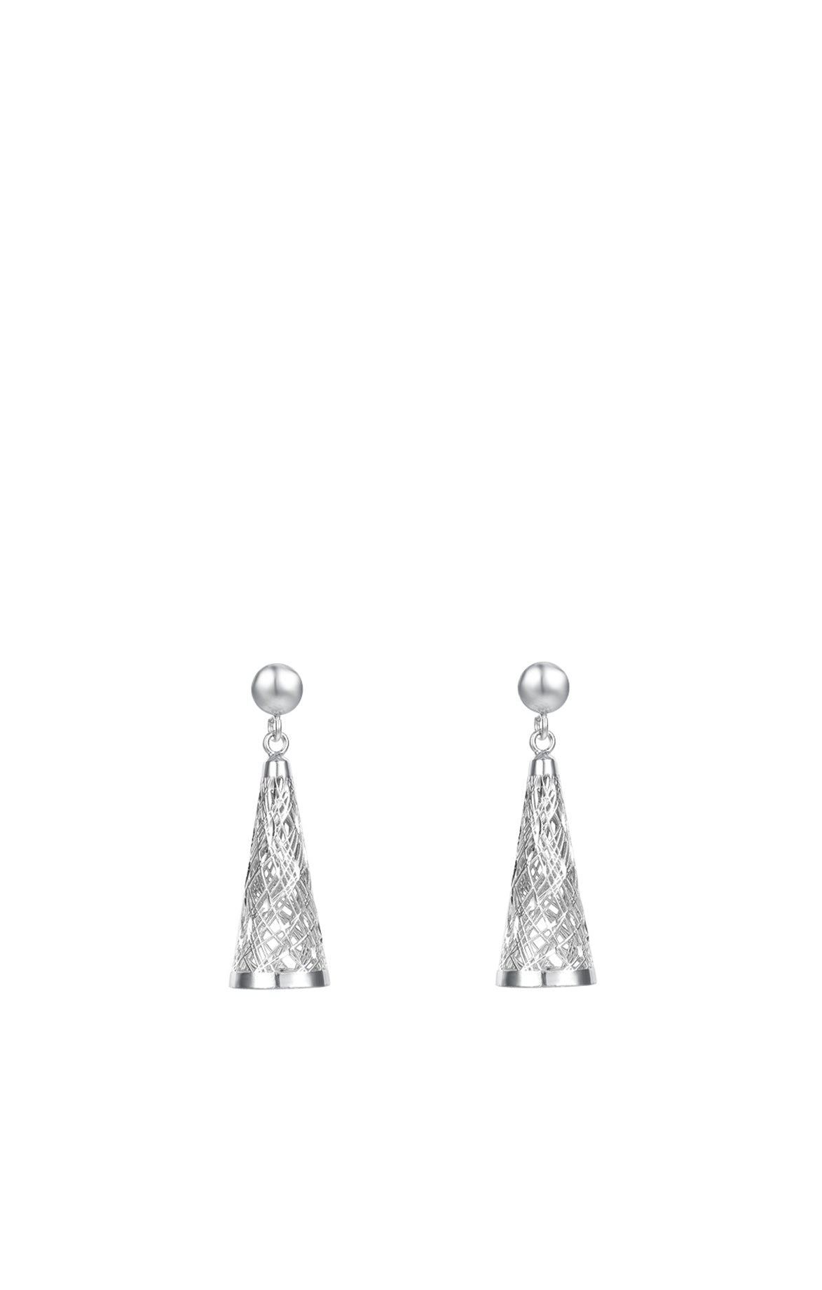 Structure of the Universe Silver Earrings
