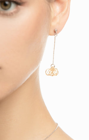 Dazzling Universe Gold Earrings