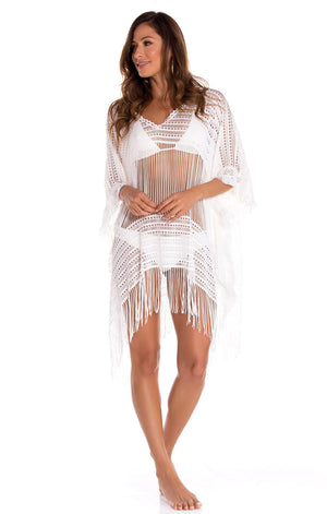 Mesh White Cover Up