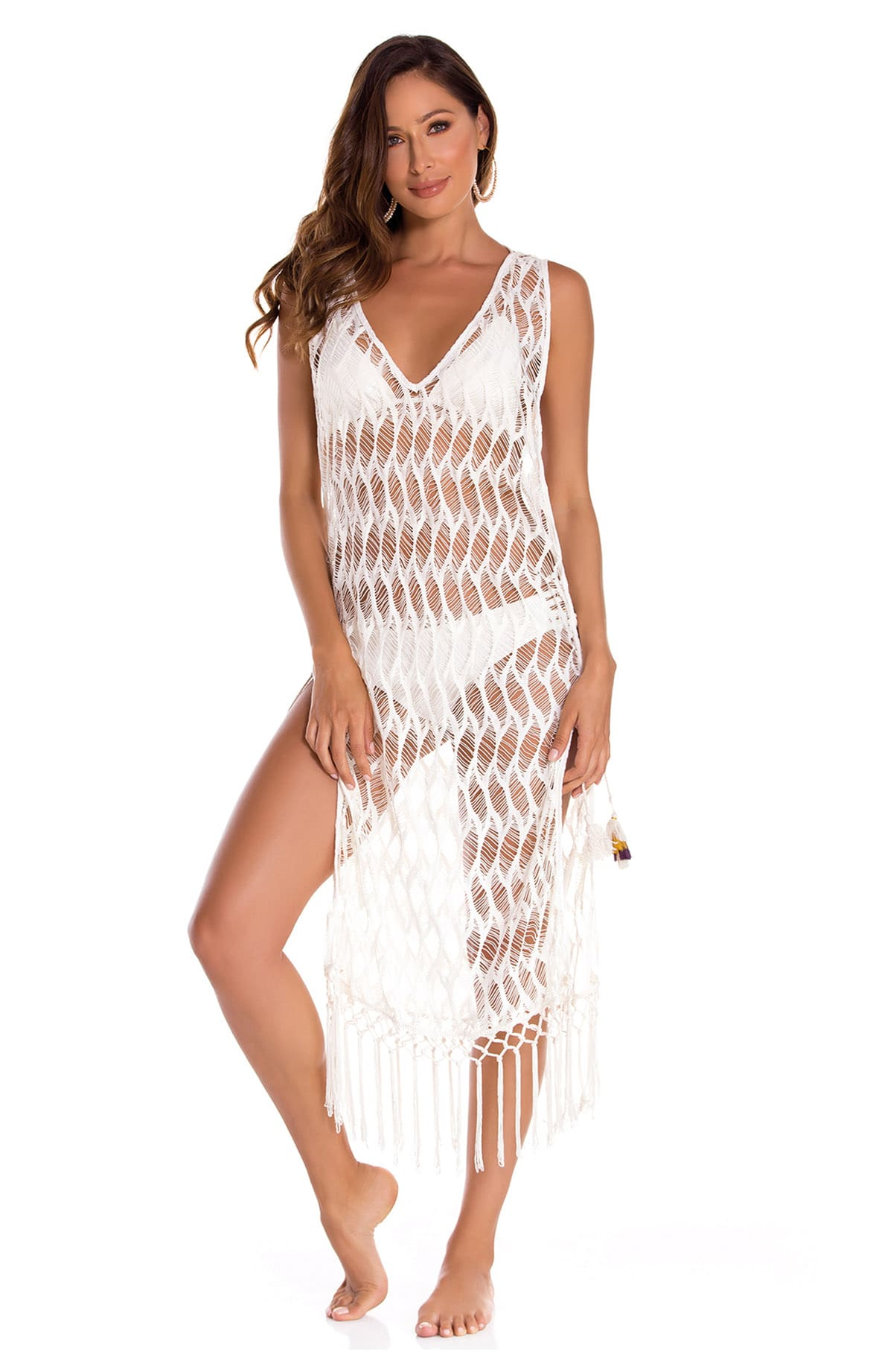 Arezzo Cover Up Handmade Mesh Dress