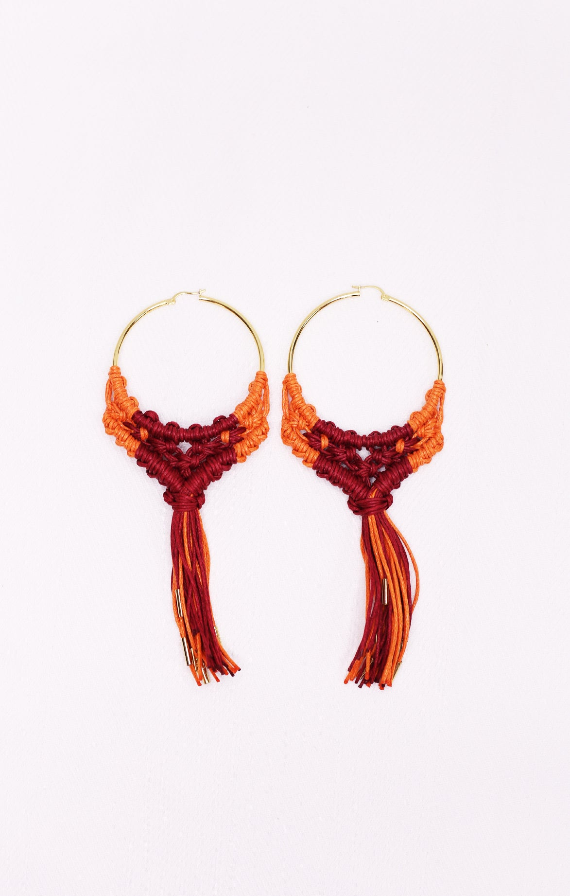 Penacho Earrings Red