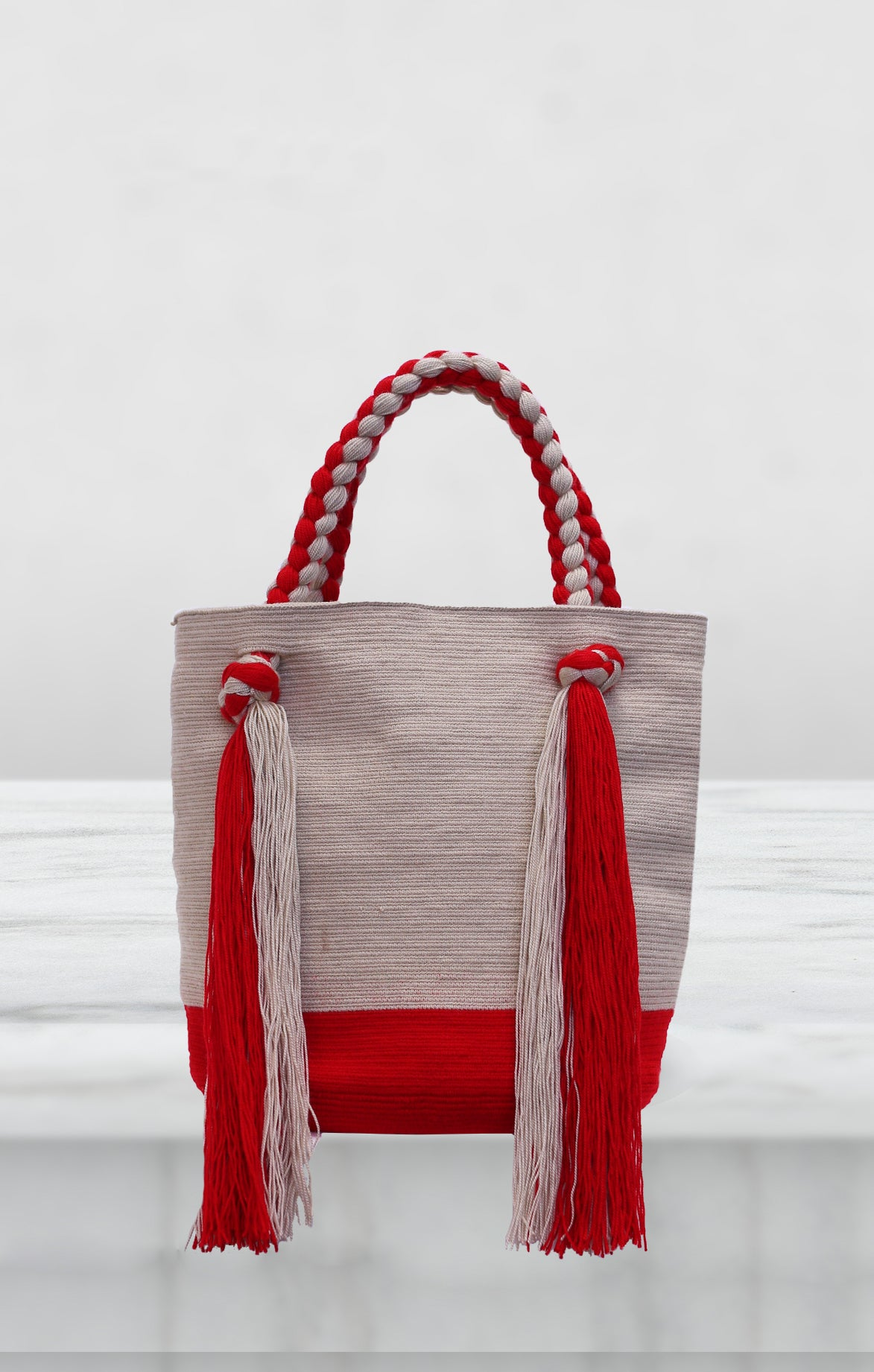 Braided Tote Red Wayuu Bag