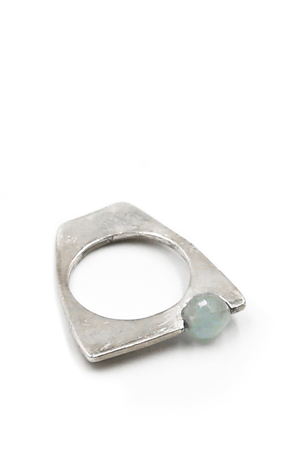 Aquamarine and Agata Ring Set