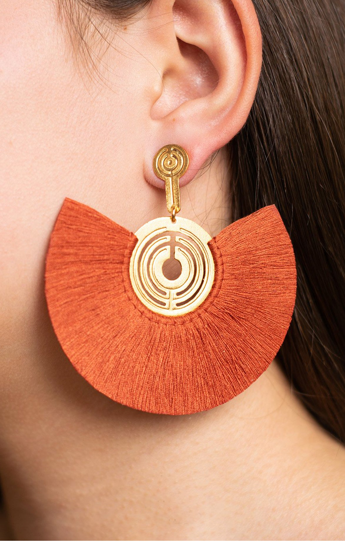 Mapuche Burgundy Earrings