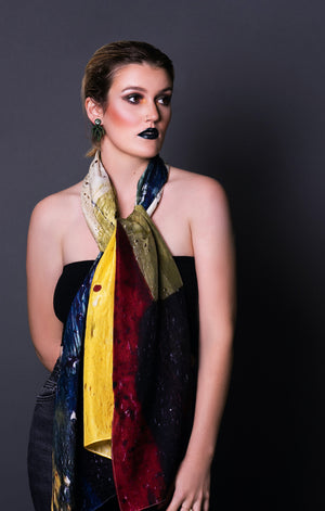 Wildscape Long Silk Scarf