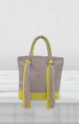 Braided Tote Yellow Wayuu Bag