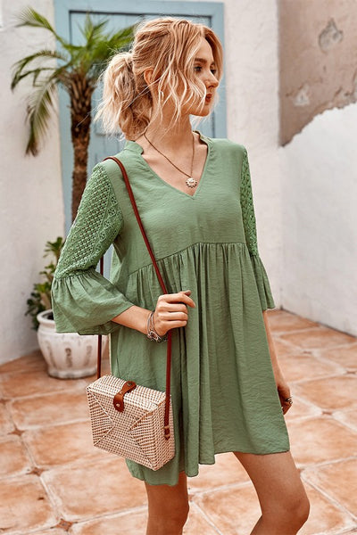 Letting Go Flare Sleeve Dress