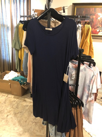 navy tshirt dress