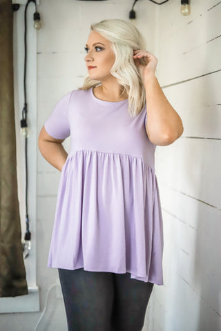Pretty Please Babydoll Top - Lavender