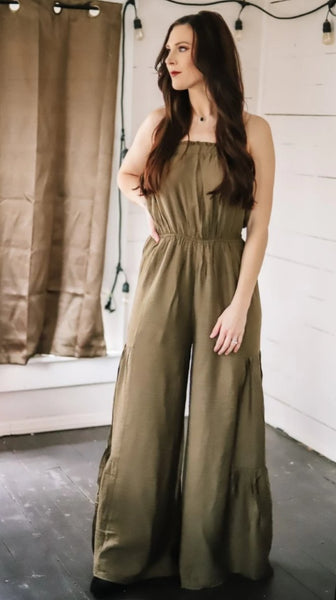 Have It All Olive Jumpsuit