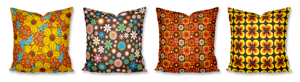 Retro and Vintage Patterned Cushions