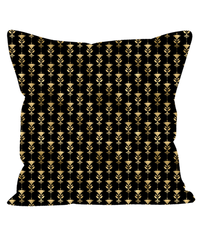 Retro Vintage Art Deco Cushion In Black and Gold 1920's Style