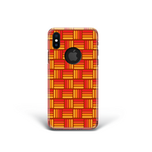 Load image into Gallery viewer, Vintage Orange Weave Effect Phone Case for iPhone and Samsung. 60's 70's Style.