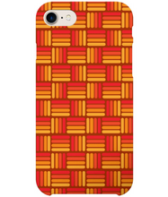 Load image into Gallery viewer, Vintage phone case in orange weave effect