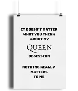 Queen Band Nothing Really Matters Poster Print.