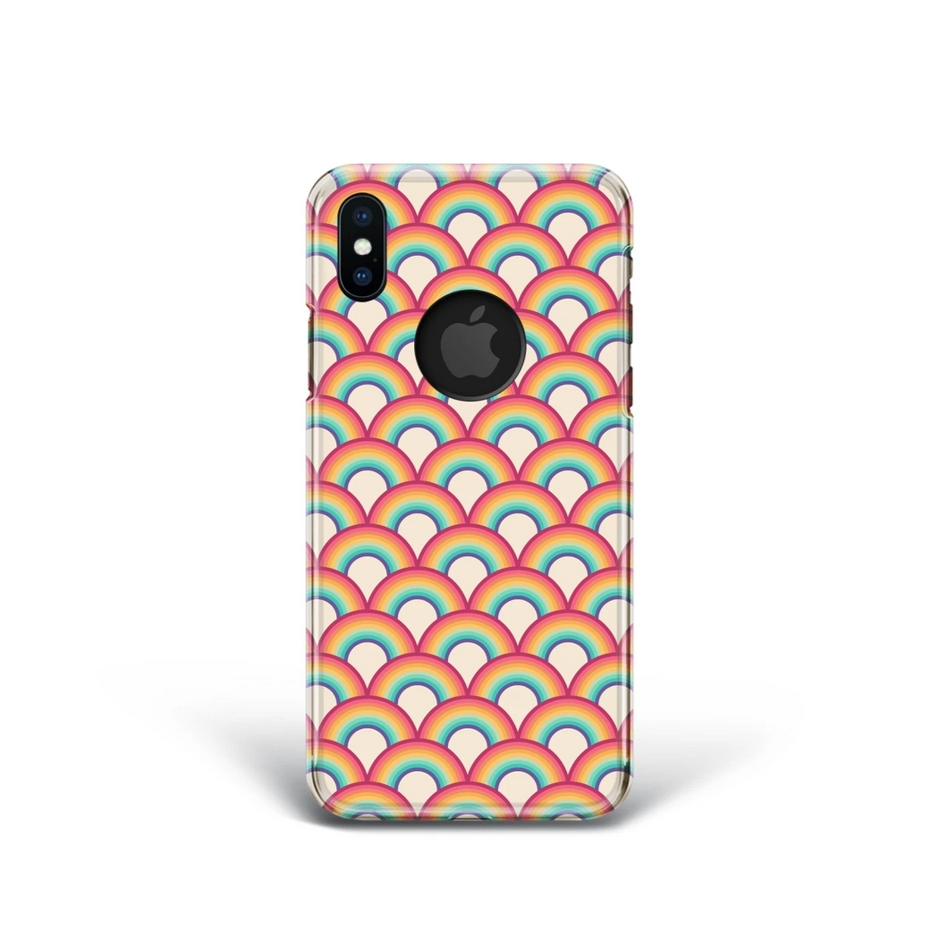 Retro Rainbow Phone Case for iPhone and Samsung. 80's 90's Style.