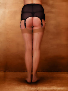 What Katie Did Retro Metallic Seamed Stockings
