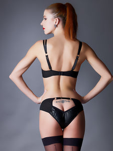 Something Wicked Ava Mini Leather Peephole Brief