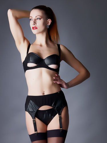 Something Wicked Ava Leather Suspender Belt