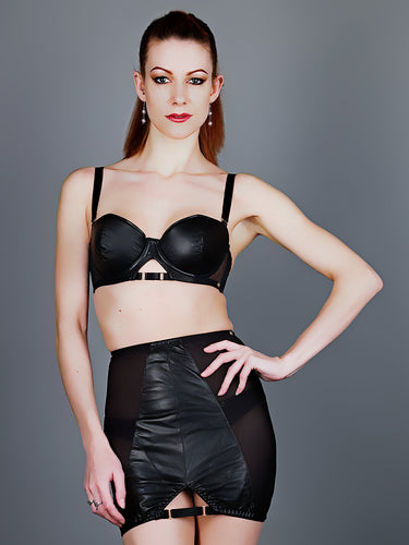 Something Wicked Montana Leather Balconette Bra