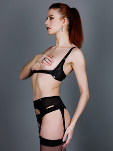 Something Wicked Montana Leather Harness Bra