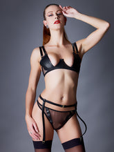 Load image into Gallery viewer, Something Wicked Nina Leather Demi Balconette Bra