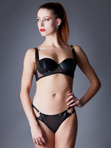 Something Wicked Nina Leather Balconette Bra
