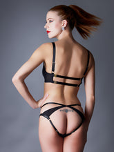 Load image into Gallery viewer, Something Wicked Nina Leather Balconette Bra