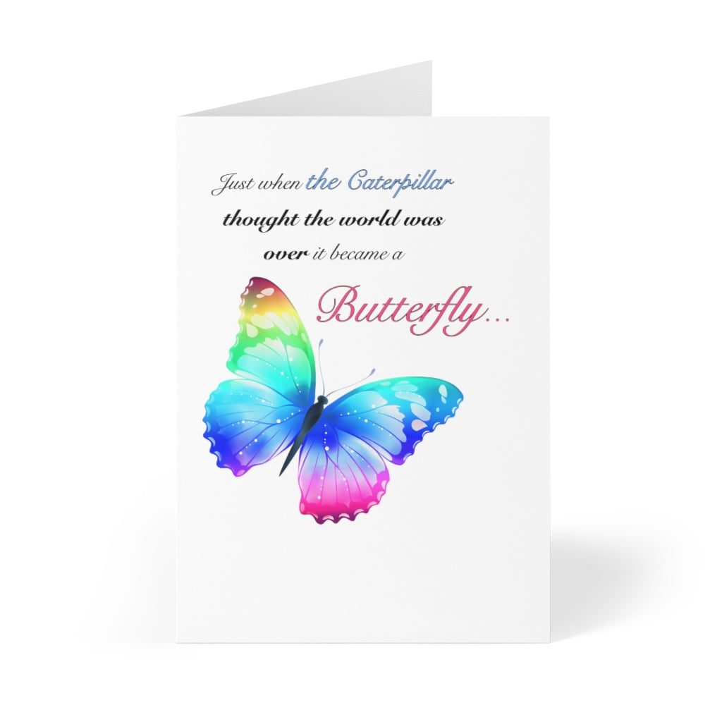 Just when the caterpillar through it was over...Greeting Cards (8 pcs)