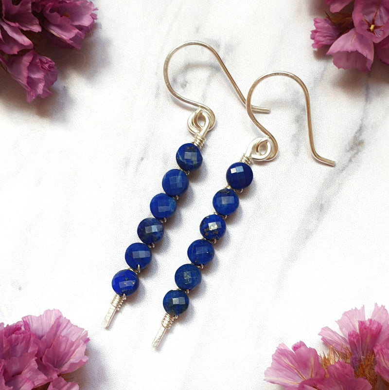 Lapis Lazuli Stick Earrings
