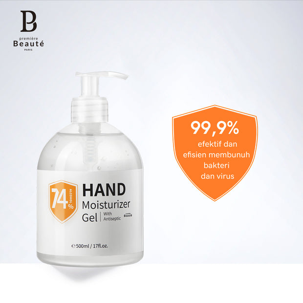 <b>Premiere Beaute Hand Sanitizer Gel 60ml/500ml </b><br>74% Ethanol, 99% kills germs, BPOM & FDA Certification