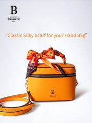 silk scarf hand bag